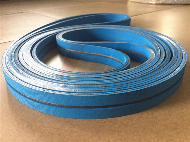 【客户案例】双面蓝平皮带贴标机皮带,了解一下